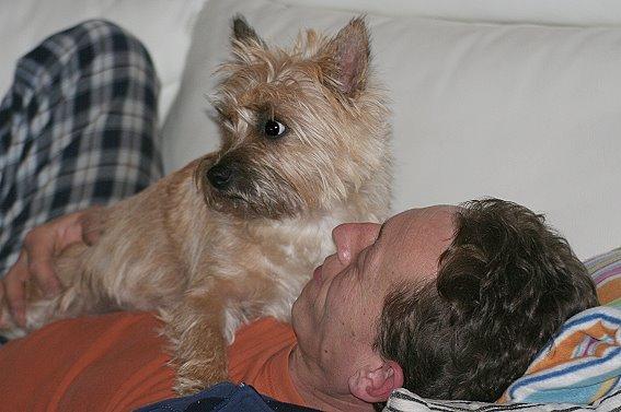 Mit Jörg auf dem Sofa